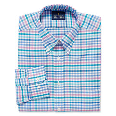 Stafford Travel Wrinkle-Free Oxford- Big & Tall Long Sleeve Dress Shirt