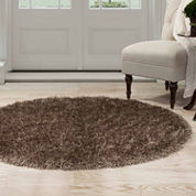 Cambridge Home Solid Shag Round Rugs