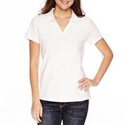 St. John's Bay Solid Polo Shirt Petites