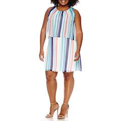 Worthington® Sleeveless Tiered Sheath Dress - Plus