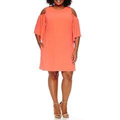 Worthington Elbow Sleeve Sheath Dress-Plus