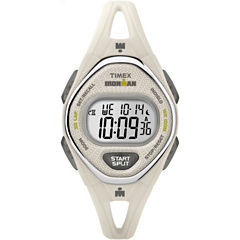 Timex Ironman Sleek 50 Womens White Strap Watch-Tw5m108009j