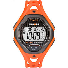 Timex Ironman Sleek 30 Mens Orange Strap Watch-Tw5m105009j