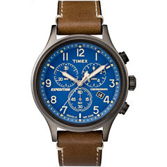 Timex Expedition Scout Mens Brown Strap Watch-Tw4b090009j