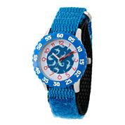 Disney Mickey Mouse Boys Green Strap Watch-Wds000109