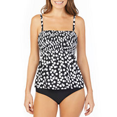St. John's Bay ® Polka Dot Smocked Tankini or Brief Swimsuit Bottom