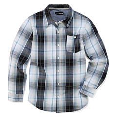 Ocean Current Long Sleeve Button-Front Shirt Boys