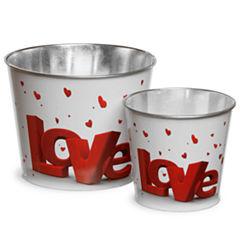 National Tree Co. Valentine Tin 2-pc. Decorative Bowl