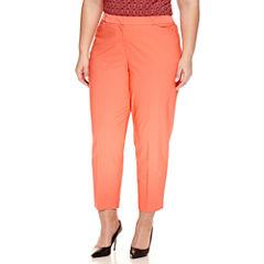 Worthington® Slim Fit Ankle Pants - Plus