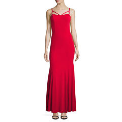 City Triangle Sleeveless Fitted Gown-Juniors