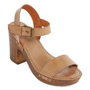 Mia Girl® Manuela Faux-Wood Heel Sandals