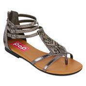 Pop Zora T-Strap Gladiator Sandals