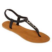 Mixit™  Embellished T-Strap Sandals