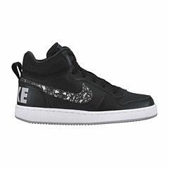 Nike Court Borough Mid Print Boys Running Shoes
