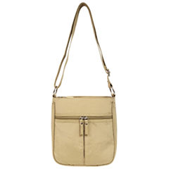 St. John's Bay Crushed Nylon Multi Entry Crossbody Bag