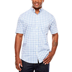 Van Heusen Short Sleeve Flex Stretch Button-Front Shirt-Big and Tall