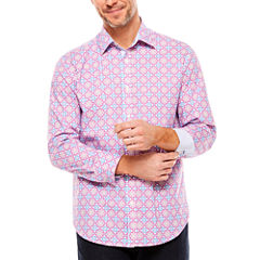 Society Of Threads Large Print Button-Front Shirt