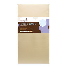 Naturepedic® Organic Cotton Lightweight Ultra 2-Stage Seamless Crib Mattress