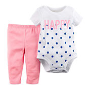 Carter's® Dot Bodysuit and Pants Set - Baby Girls newborn-24m