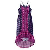 Arizona Mixed-Print Peasant Dress - Girls 7-16