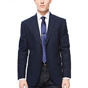 JF J. Ferrar® Navy Diamond Sport Coat - Slim Fit