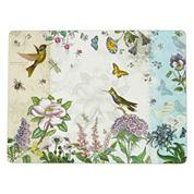 Manorcraft by Pimpernel® Botanic Hummingbird Set of 4 Cork-Backed Placemats