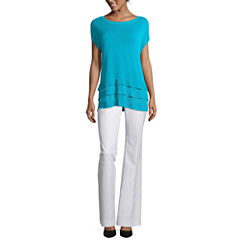 Worthington® Triple-Layer Top or Curvy Fit Pants