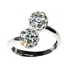 Sparkle Allure White Crystal Delicate Ring