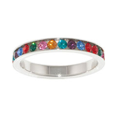 Sparkle Allure Womens Multi Color Crystal Cluster Ring