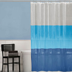 Maytex 3D Colorblock PEVA Shower Curtain