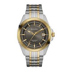 Bulova® UHF Precisionist Mens Two-Tone Stainless Steel Watch 98B273