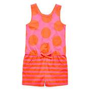 Okie Dokie® Sleeveless Gathered-Back Romper - Toddler Girls 2t-5t