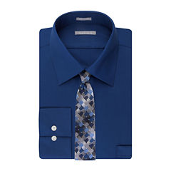 Van Heusen® No-Iron Lux Sateen Dress Shirt and Tie Combo