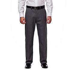 Haggar® Premium Stretch Grey Flat-Front Suit Pants - Clasic Fit