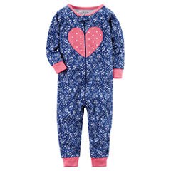 Carter's One Piece Footless Pajama-Baby Girls