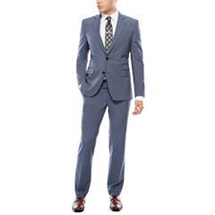 JF J. Ferrar Texture Stretch Light Blue Suit Separates- Super Slim Fit