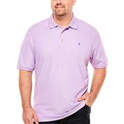 IZOD Short Sleeve Solid Knit Polo Shirt- Big & Tall