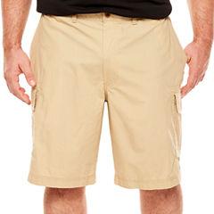 IZOD Classic Fit Poplin Cargo Shorts Big and Tall