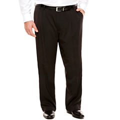 Van Heusen Traveler Stretch Pleated Dress Pant- Big and Tall