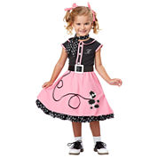Buyseasons 50s Poodle Cutie Toddler Costume Girls 5-pc. Dress Up Costume-Toddler