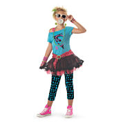 Buyseasons 80s Valley Girl Child Costume 4-pc. Dress Up Costume Girls