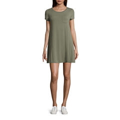 Arizona Short Sleeve Swing Dress-Juniors