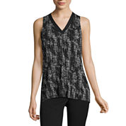 Worthington Sleeveless V Neck Knit Blouse