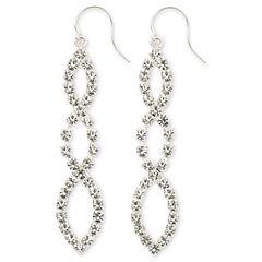 Vieste® Crystal Linear Drop Earrings