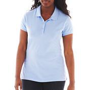 Arizona Short-Sleeve Polo Shirt - Juniors Plus