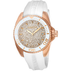 Invicta Womens White Strap Watch-22704