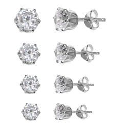 Silver Treasures 4-pc. Sterling Silver Earring Sets
