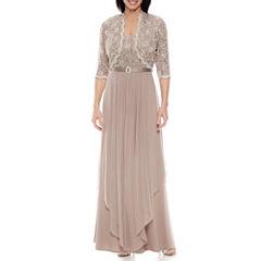R&M Richards 3/4-Sleeve Lace Jacket Dress