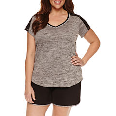 Made For Life Short Sleeve V Neck T-Shirt-Womens Plus