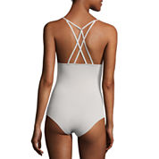 Flirtitude Strappy Back Bodysuit-Juniors